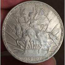 Mexico 1910 $1 Peso Caballito Plata Ver Fotos Var. En Fecha