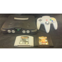Nintendo 64 Paquete Turok 2 Y 3 Consola Cables Y Control