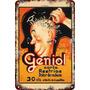 Carteles Antiguos De Chapa 20x30cm Publicidad Geniol Va-002