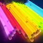 100 Pulseras Fluor Luminosas Barras Fluor Led Fiestaclub