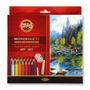 Lápis Aquarelável Mondeluz 72 Cores - Acompanha 3 Pincéis