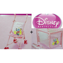 Berço + Carrinho Para Bonecas Princesas Disney Promoçâo!!!