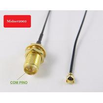 Cabo Pigtail Ufl Mini Pci X Rp-sma Fêmea Antena Wifi