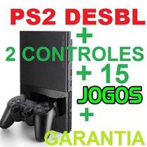 Preço De Play 2+ Barato+2 Controles+15 Jogos+memory+garantia