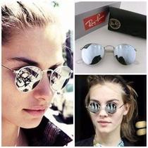 Oculos Hound Rayban Original Prata Espelhado Feminino Masc