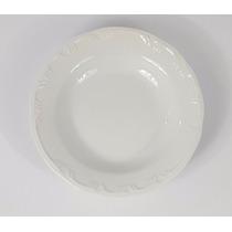 Prato Fundo Pomerode Schmidt Porcelana Branca - 23cm