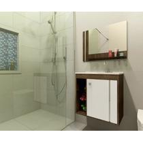 Gabinete Armário Para Banheiro Com Pia Veneza Branco_avelã