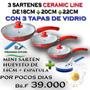 Sarten Ceramica Ceramicore 18,20,22 Cm +tapa + Mini Sarten