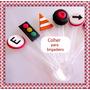 Carros Colher Em Biscuit Kit 50