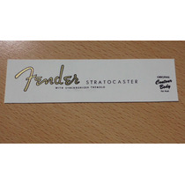 Logo Decal Para Fender Stratocaster 50 Made In Usa