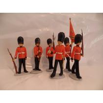 Soldados Guardias Reales X6 Palacio De Buckingham 4 Esc 1:32