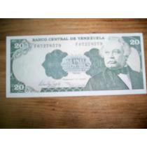 Billete De Venezuela 20 Bolivares 1998 Sin Circular