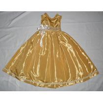 Nuevo Vestido Largo Satinado 3-4 Años Fiesta Pajecita Dress