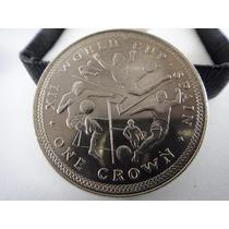 28.2 G Cupro-níquel Moeda One Crown Ilha De Man 1982 Copa 82