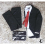 Kit Terno Italiano+calça+camisa+gravata+capa Pronta Entrega!