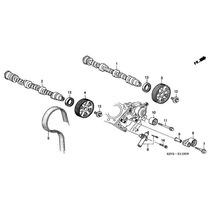 Polias Do Comando De Válvulas - Honda Accord Ex 3.5 V6 -2013