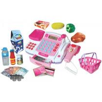 Caixa Registradora Infantil Com Microfone, Balanca, Leitor,