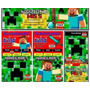 Kit Imprimible Minecraft Fiesta Cumpleaños Torta Niños Crear