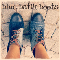 Botas Cuero Batik Azul Taco Chino - Frou Frou - Envio Gratis