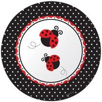 Platos Desechables Grandes Coquito (mariquita, Lady Bug)
