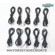 Lote De 10 Piezas Cable Auxiliar Audio 3.5mm Macho A Macho