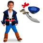 Fantasia Do Capitão Jake E Os Piratas Luxo Para 3 A 4 Anos
