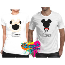 Camisa Personalizada Casal Mickey E Minnie Noivos A4