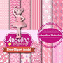 Kit Imprimible Pack Fondos Angelina Ballerina 2 Clipart