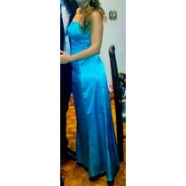 Vestido Longo Festa Azul Turquesa Convidada Madrinha Mãe