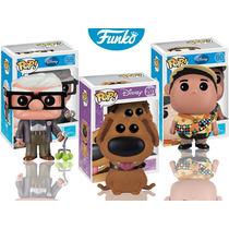 Set 3 Piezas Russell Carl Dug Funko Pop Disney Pelicula Up