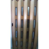 Puerta Plegadiza Lux Reforzada 2,10x2,10 Mtsc/cierre Central