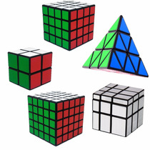 Kit Cubo Mágico 2x2x2, 4x4x4, 5x5x5, Mirror Blocks, Pyraminx