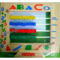 Juguete Didactico Abaco Madera Aprende Numeros Niño Bebe