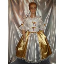 Disfraz De Dama Antigua En Raso Combinado
