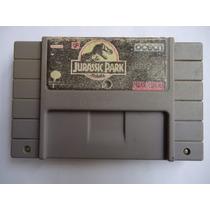 Jurassic Park Para Super Nintendo Snes Funcionando Perfecto