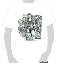 Camisetas Art Chicana Swag - Girl Pit Bull Tatoo