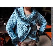 Saco Tejido En Suite De Tonos Al Crochet T-014