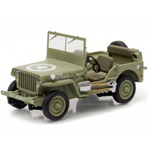 Miniatura De Jeep Willys C7 1944 U.s Army 1:43 Greenlight