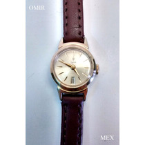 Reloj Rolex Tudor Chapa Oro Dama Suizo Cuerda Fechador Date