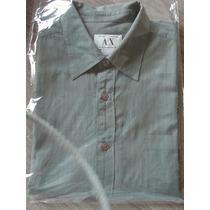 Camisa Armani Para Hombre - Talle M - 100% Algodón