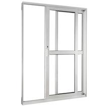 Porta Balcão Suprema 120x210 2folhas Vidro Incolor3mm Branco