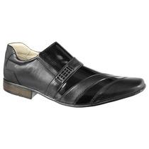 Sapato Esport Fino Social Detalhe Verniz Forrado Couro 102