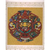 Cuadro De Arena Prehispanico 4 Soles Aztecas