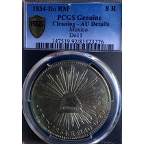 Moneda 8 Reales Durango 1834 Aguila Francesa Certificada