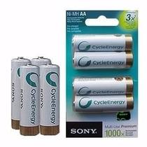 Pilas Recargables Sony Aa 2000 Mah Blister Por 4 Unidades