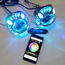 Proyectores Lupa Bixenon Bluetooth Android Iphone 3 Pulgadas
