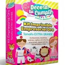 Kit Imprimible Empresarial Invitaciones Tarjetas Todo A $10
