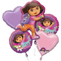 Dora El Explorador Feliz Cumpleaños Mylar Papel Globo Bouqu