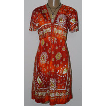 Vestido Tamanho G Mantra Malha Viscose Decote Tenda Roots