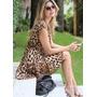 Vestido Feminino Estampa De Onça Oncinha Leopardo Fashion